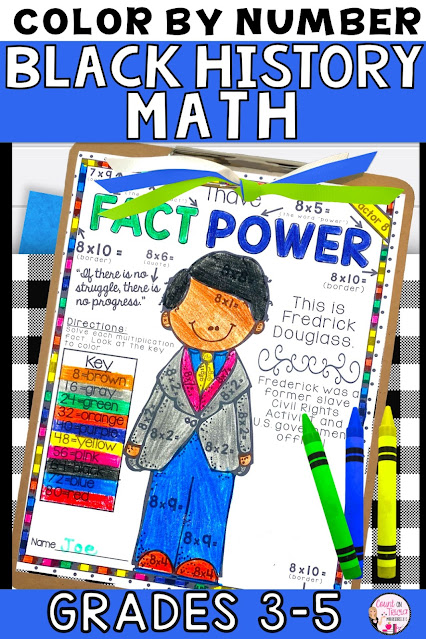 Black History Month Math Activities for Third Grade Math, Fourth Grade Math and Fifth Grade Math