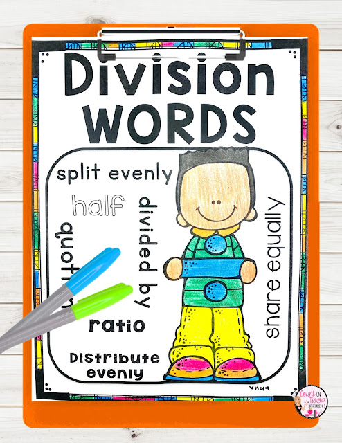 Division Divide by 2 free Activities and anchor chart for Third grade Math and Fourth Grade Math