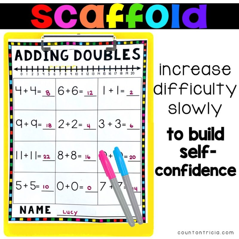 Add Doubles Facts Free Anchor Chart and Addition Free Activities for First Grade Math