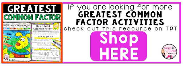 Ways to Practice Greatest Common Factor for Fourth Grade Math Students