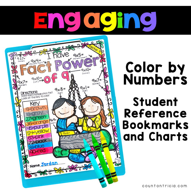 Spring Math Multiplication Color for 2nd Grade Math, 3rd Grade Math, 4th Grade Math and 5th Grade Math Review.