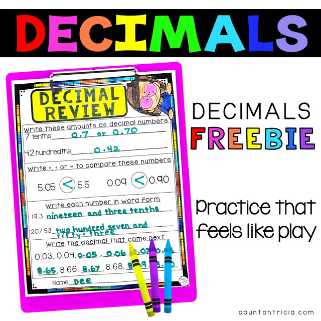 Beginning to Understand Decimals in 4th Grade Math and the Upper Elementary Classroom