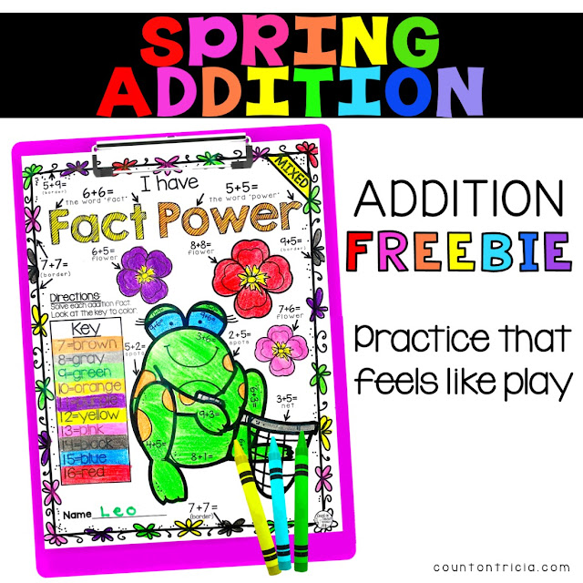 Fun Spring Addition Activities for Kindergarten and First Grade Math Students