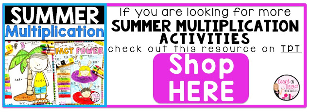 3 Fun Ways to Practice Multiplication Math Facts during the Summer for Third Grade Math, Fourth Grade Math and Fifth Grade Math Students
