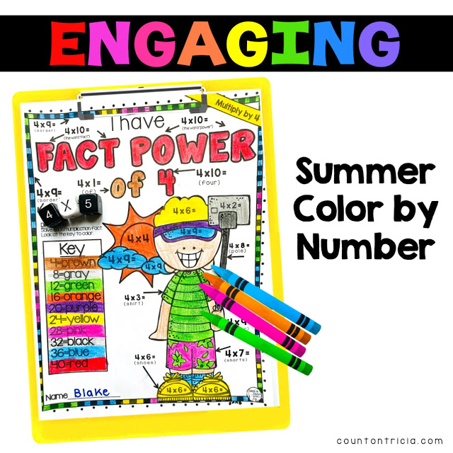 3 Fun Ways to Practice Multiplication Facts during the Summer