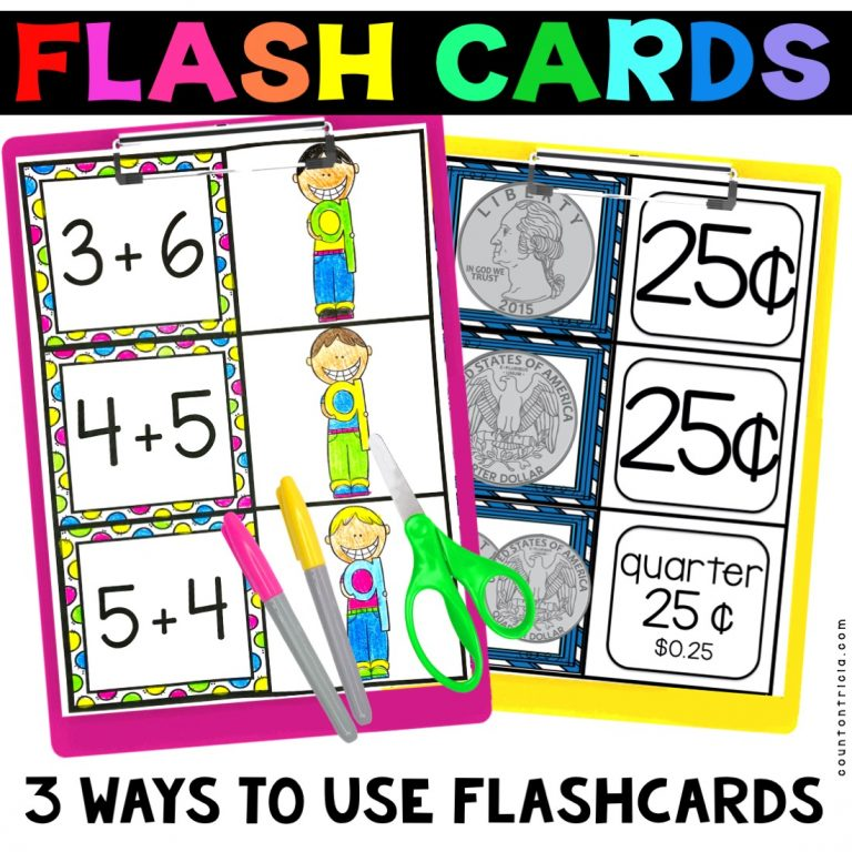 3 Ways to Use First Grade Math Flashcards