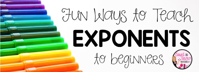 Fun Ways to Teach Exponents to the Beginner 4th Grade Math 5th Grade Math