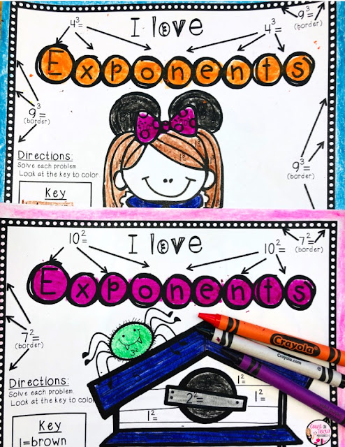 Halloween Exponent Activities and Practice for fourth grade and fifth grade math