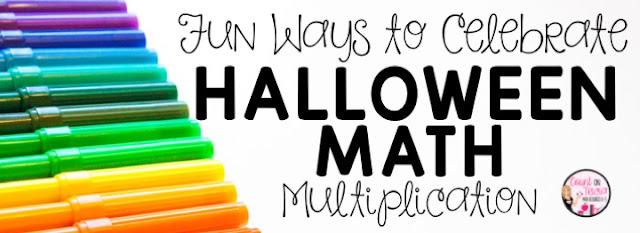Halloween Math Multiplication for Third Grade Math, Fourth Grade Math and Fifth Grade Math