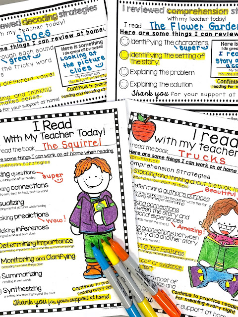 Reading Conferences for kindergarten readers, first grader readers and second grade readers