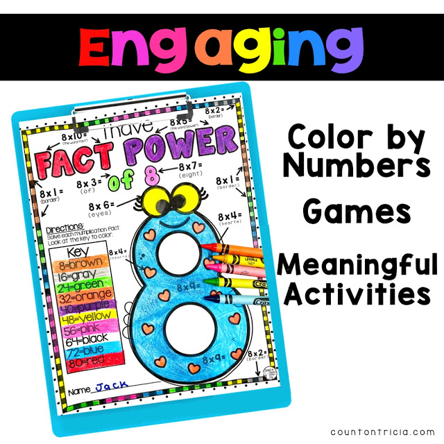 Help your 3rd Grade Math and 4th Grade Math Students master fact fluency with ease in the upper elementary grades.