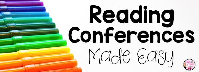 reading conferences for beginning readers kindergarten first grade second grade reading