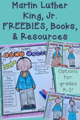 Looking for great activities for your classroom this February during Black History Month, check out these Martin Luther King, Jr. FREEBIES, books, & resources. There are options that will work great with your Kindergarten, 1st, 2nd, 3rd, 4th, or 5th grade classroom and homeschool students! Great books options, plenty of resources to help your students master their math skills, and THREE FREEBIES!! What are you waiting for? Click over now! {Kinder, first, second, third, fourth, fifth grader}